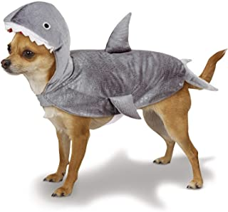 """Casual Canine Gray Shark Costume for Dogs, Extra Small Size – Fits Small Breed Dogs Up to 8"""" in Length, Machine Washable"""