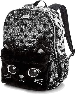Black Cat Flip Sequin Backpack
