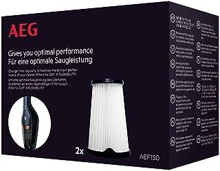 AEG AEF150 Filterset für CX7-2 Doppelpack, Innenfilter, Staubsauger Filter, optimale Saugleistung und Filtrationsleistung, regelmäßiger Filtertausch, einfache Reinigung und Austausch, schwarz/weiß