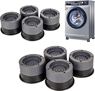 8 Pack Shock and Noise Cancelling Washing Machine Support with Suction Cup, Anti Vibration Rubber Foot Pads for Washer and...