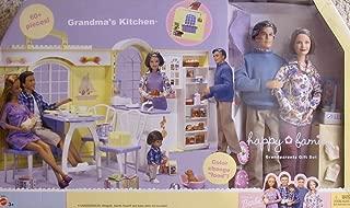 BARBIE Happy Family GRANDMA'S KITCHEN & GRANDPARENTS Playset GIFT SET w 60+ PIECES Including GRANDMA & GRANDPA Dolls (2003)