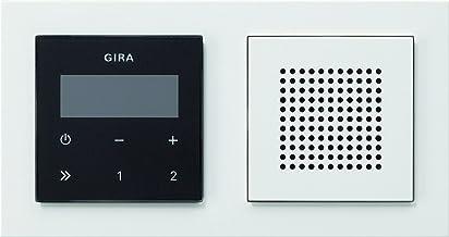 Import Allemagne Gira AP System 55 125003 Panneau de commande pour interphone audio Blanc brillant