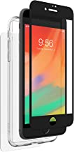 ZAGG InvisibleShield Glass+ 360 - Front + Back Screen Protection with Side Bumpers Made for Apple iPhone 8 Plus - Black