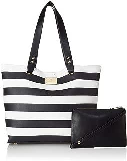 Van Heusen Women's Tote Bag (Black+White)