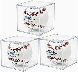 サインボールケース 3個セット 野球ボールケース UVカット仕様 アクリル製 硬式/軟球野球ボール対応 コレクションケース ディスプレイケース 記念グッズ 野球グッズ