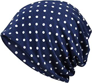 DancMolly Print Flower Cap Lightweight Hats Beanie Stretch Casual Turbans for Women