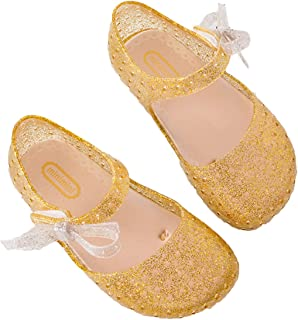 eb8a9e5291eb Lemonkid Girls LED Light up Mary Jane Flats Sandals Jelly Bowknot Toddler  Summer Shoes