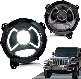 VLAND LED Headlights for Jeep Wrangler 2018 2019 2020 with Full LED DRL