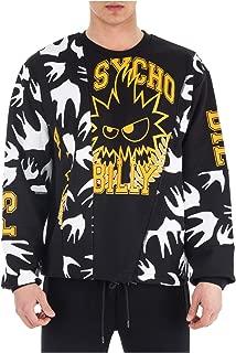 McQ Alexander McQueen Men Sweatshirt Swallow Black - Yellow - White