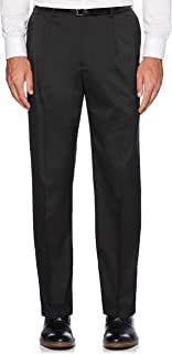 Men's Pleated Stretch Crosshatch Dress Pant