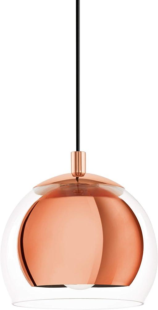 Eglo rocamar , lampadario a sospensione , in metallo e vetro 94589