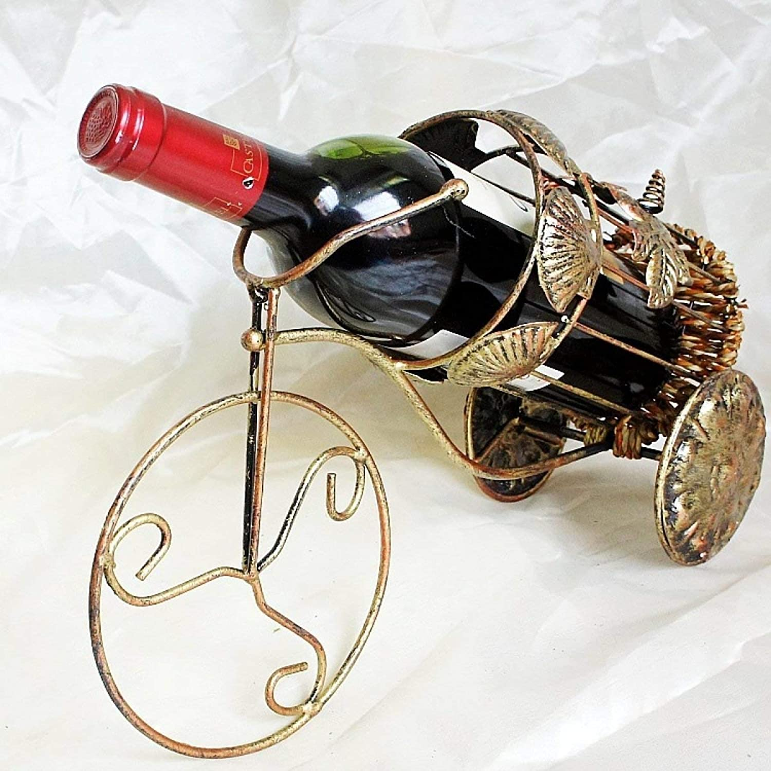 Red Wine Shelf Tricycle Creative Simple Round Basket Type Personality Fashion Ornaments Wine Rack Wine Rack