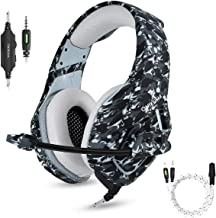 PS4 Gaming Headset with Microphone for PC New Xbox One PSP Gamer Headphones with Mic Noise Cancelling for Laptop, Mac, Sma...