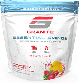 Sponsored Ad - Granite® Essential Amino Acids + Branched Chain Amino Acids + Electrolytes (Strawberry Lemonade Flavor) | 1...