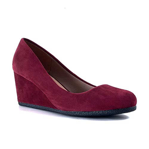 Burgundy Wedges and Shoes: