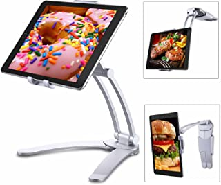 Tablet Stand Holder for iPad, Tendak 2-in-1 Tablet Mount Stand/Kitchen Tablet Wall Mount Holder for 5-12.9 Inch Tablets/iP...