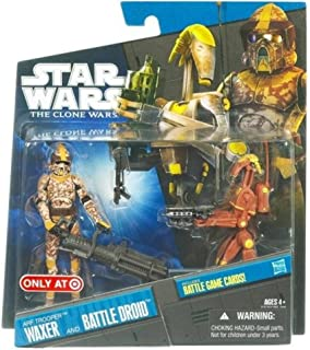 Star Wars The Clone Wars Exclusive Arf Trooper Waxer and Battle Droid 3-3/4 Inch Scale Action Figures
