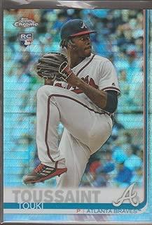2019 Topps Chrome Refractor Touki Toussaint Braves Rookie Baseball Card #197