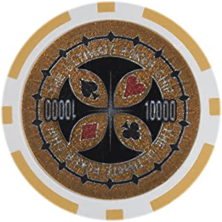 Brybelly The Ultimate Poker Chip Holo Inlay Heavyweight 14-Gram Clay Composite - Pack of 50