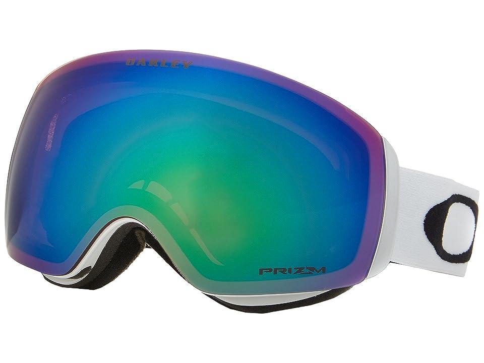 Oakley Flight Deck XM (Matte White/Prizm Jade Iridium) Sport Sunglasses