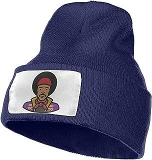 TYLER ADAMSgutyt Mens & Womens Jimi Hendrix Skull Beanie Hats Winter Knitted Caps Soft Warm Ski Hat Black