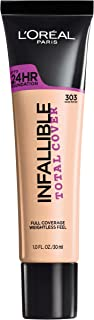 L'Oréal Paris Infallible Total Cover Foundation, Nude Beige, 1 fl. oz.