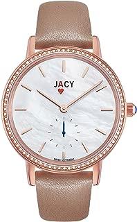 JACY Womens Luxury Diamond Watch - Swiss Quartz Watch with Real Diamonds - Rose Gold