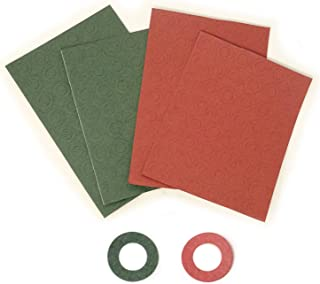 Honbay 200PCS 18650 Battery Insulator Rings Battery Insulating Adhesive Paper Cardboard Sticker, Red and Green