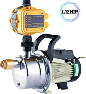 1/2HP Booster Pump Water Pressure Tankless Shallow Well Self-priming Jet Pump System