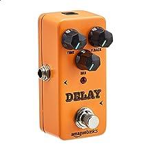 AmazonBasics Digital Delay Effect Sound Processor for Guitar and Bass