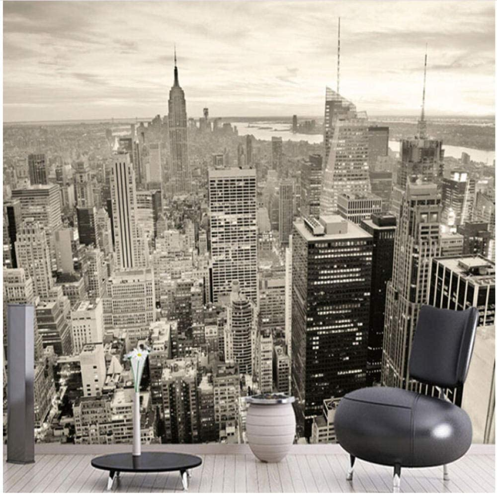 Max 53% OFF xbwy New Complete Free Shipping York Black and White Landscape Personali City Wallpaper