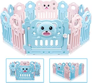 Besrey Large Playpen for Babies Panels Activity Center  Baby Playpen Indoor Safety Baby Fence with Shapes  No quot Dangerous Gaps quot