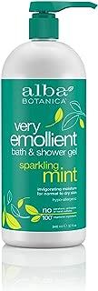 Alba Botanica Very Emollient Sparkling Mint Bath & Shower Gel, 32 oz.