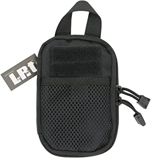 LefRight Mini Tactical Molle EDC Compact Pocket Organizer Pouch (Black, S) (Black)