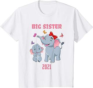 Bambino Bambino Big Sister 2021 Diventa Un Grande sorella Maggiore Maglietta