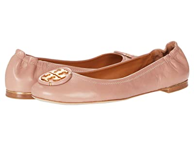 Tory Burch Multi Logo Elastic Ballet (Pink Moon) Women