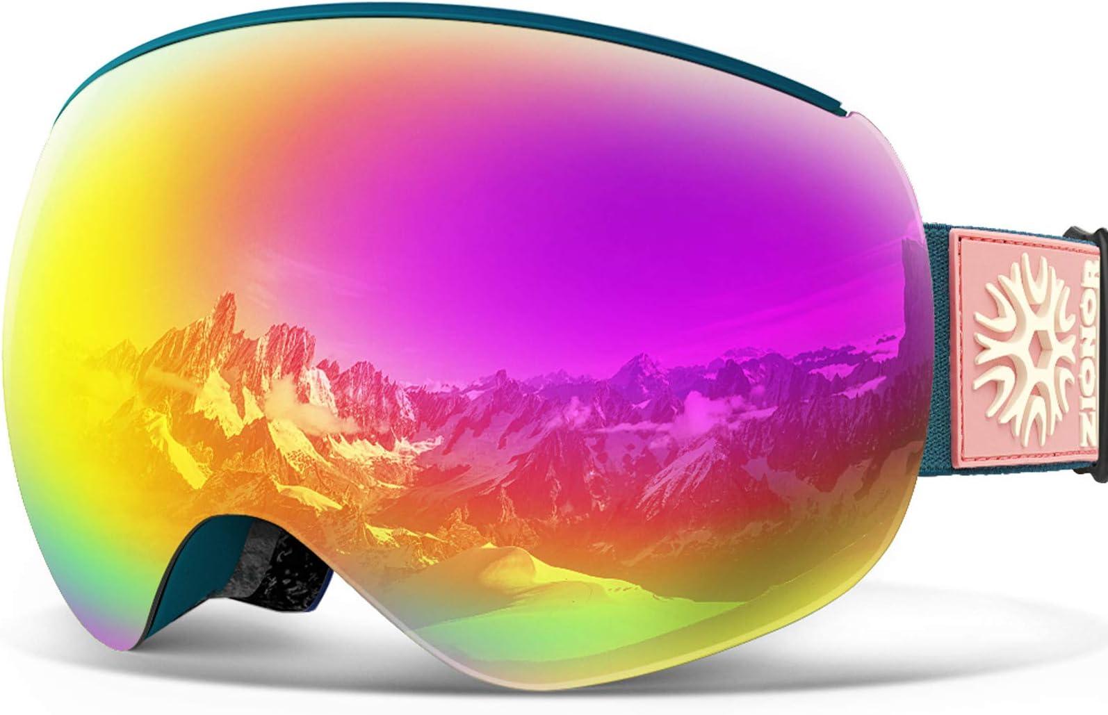 ZIONOR X4 PRO Ski Goggles Magnetic Snowboard Goggles Snow Goggles for Men Women