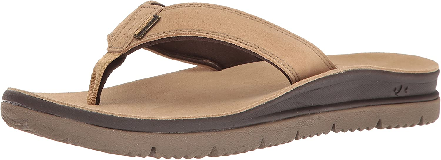 Freewaters Men's Tall Boy Leather Sandal Flip Flop