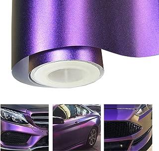 Matte Metallic Chameleon Purple Vehicle Car Vinyl Wrap Stretchable Air Release DIY Decoration 1x 5ft