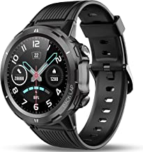Vigorun Smart Sport Watch with Fitness Tracker, 1.3in Touch Screen with Heart Rate Monitor, Pedometer, 14d+ Playtime, Call SNS Alert, 5ATM,Sleep Tracker Watch for Men and Women (Deep Black)