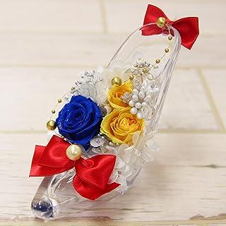 セーラームーン風 プラネットヒールアレンジメント プリザーブドフラワー アレンジメント 選べる11種 ガラスの靴(アクリル製) アクリルクリアヒール Alice Flower