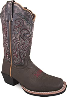 Smoky Mountain Childrens Fusion 2 Square Toe Brown/Vintage Black Western Cowboy Boot