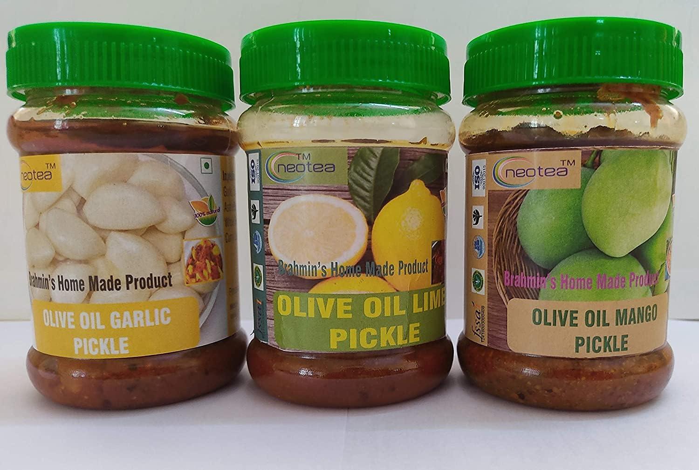 Carlos Max 65% OFF Neotea Homemade Pure Olive Garlic Pickles Lemon Popular popular Mango Oil