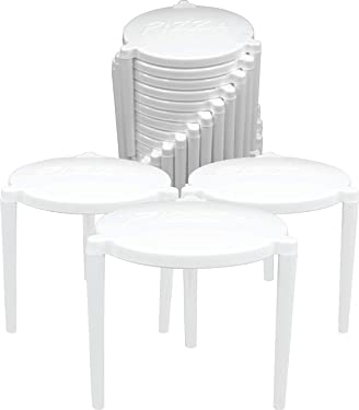 Pizza Table Box Saver Stands, White Plastic, Pack of 100