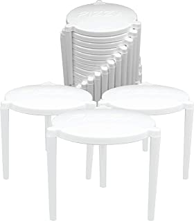 Pizza Table Box Saver Stands, White Plastic, Pack of 500