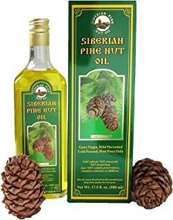 SUPERIOR GRADE PINE NUT OIL 17.5 oz/500 ml. Extra Virgin, Authentic and 100% Natural. Unfiltered, First Press Only, Cold-pressed. Pressed from Wild Harvested, Organic, Raw Pine Nuts
