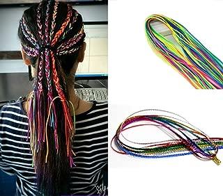 Dsoar Hair String For Braids Colorful Hair Braiding Wire Thread 10 Packs Fashion Hair Styling Accessories Hiphop Hair Tie For Dreadlocks