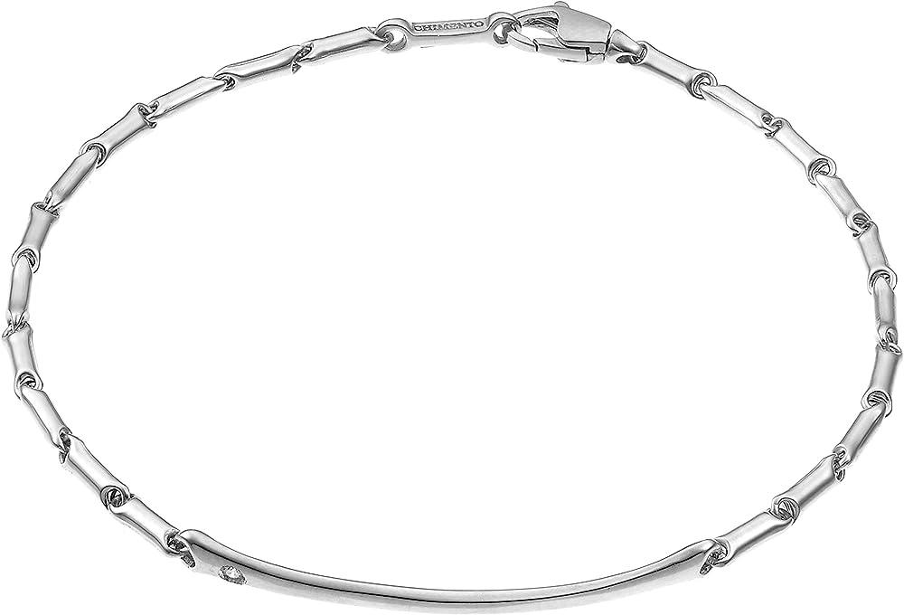Chimento ,bracciale per uomo in oro bianco 18 kt(3,39 gr) e diamante ct. 0.01 1B04517B15200