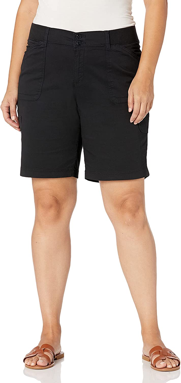Lee Women's Plus Size Relaxed-fit Avey Knit-Waist Cargo Bermuda Short