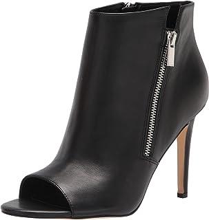 NINE WEST Women's Izip Pump, Black Leather, 9